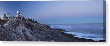 Pemaquid Point Lighthouse On The Maine Coast Canvas Print