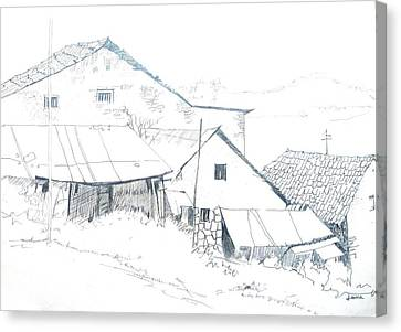 Pencil Drawing Canvas Print by Rejeena Niaz