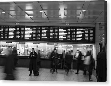 Canvas Print featuring the photograph Penn Station by Steven Macanka