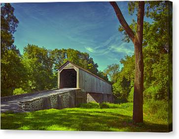 Pennsylvania Covered Bridge Canvas Print by Phil Abrams