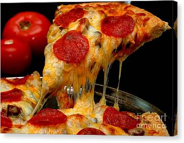 Pepperoni Pizza Slice Canvas Print by Danny Hooks