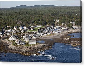 Perkins Cove, Ogunquit Canvas Print by Dave Cleaveland