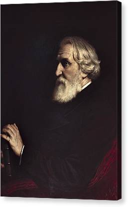Perov, Vasily 1833-1882. Portrait Canvas Print by Everett