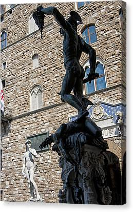Perseus By Cellini Canvas Print by Melany Sarafis
