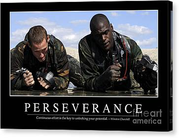 Perseverance Inspirational Quote Canvas Print