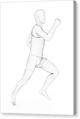 Person Jogging Canvas Print