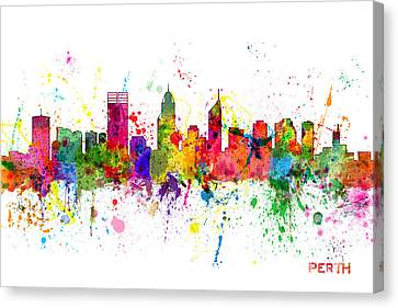 Perth Australia Skyline Canvas Print