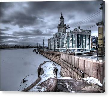 Peterburg Winter Canvas Print by Yury Bashkin