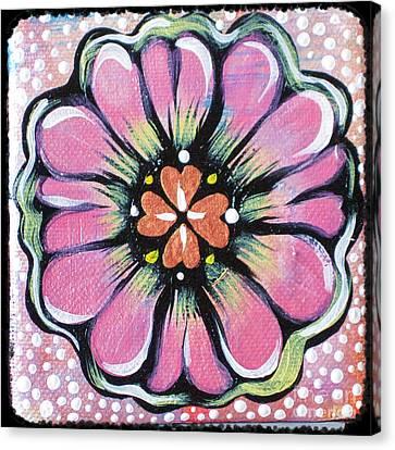 Petit Flower Canvas Print by Shadia Derbyshire