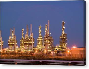 Co2 Canvas Print - Petrochemical Works On Teesside by Ashley Cooper
