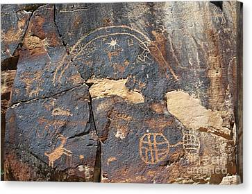547p Petroglyph - Nine Mile Canyon Canvas Print by NightVisions
