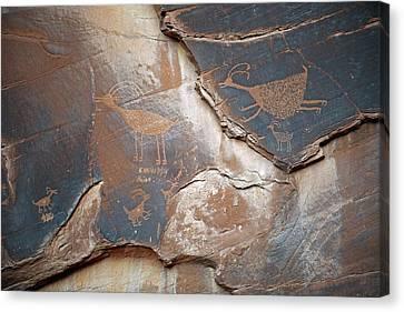 Petroglyphs Canvas Print by Bildagentur-online/mcphoto-schulz