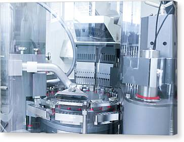 Pharmaceutical Machinery Canvas Print by Gombert, Sigrid