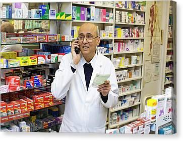Pharmacist Canvas Print