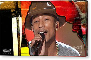 Pharrell Williams Canvas Print by Marvin Blaine