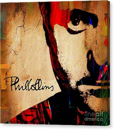 Drummer Canvas Print - Phil Collins Collection by Marvin Blaine