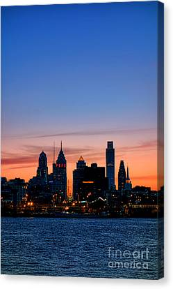 Philadelphia Dusk Canvas Print