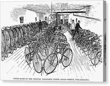 Philadelphia Bicycle Club Canvas Print by Granger