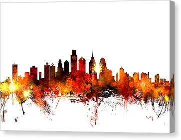 Philadelphia Pennsylvania Skyline Canvas Print