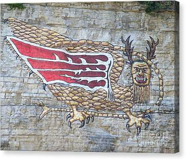 Canvas Print featuring the photograph Piasa Bird by Kelly Awad