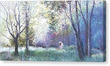 Picking Wildflowers Canvas Print by Jan Matson