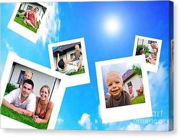 Pictures Of Happy Family Canvas Print by Michal Bednarek