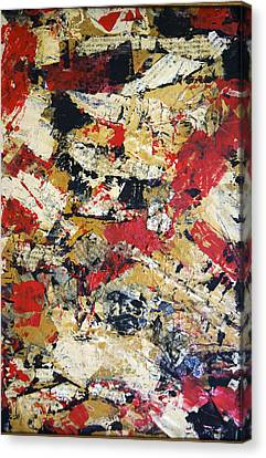 Canvas Print featuring the painting Pieces by Debra Crank