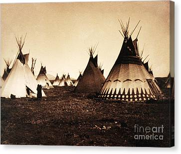 Piegan Indian Tipis, Medicine Tipi, C Canvas Print by Wellcome Images