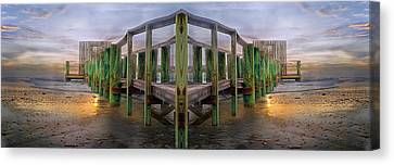Walkway Canvas Print - Pier by Betsy Knapp