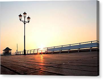 Pier Sunrise Canvas Print