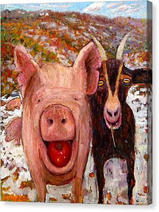 Pig And Goat Canvas Print