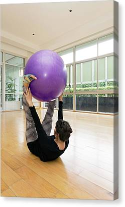 Pilates Canvas Print by Daniel Sambraus