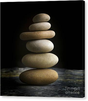 Pile Of Stones. Canvas Print by Bernard Jaubert