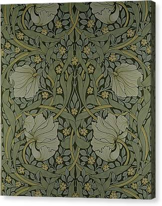 Repeat Canvas Print - Pimpernel Wallpaper Design by William Morris
