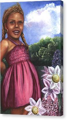 Pink Dress Canvas Print by Alga Washington