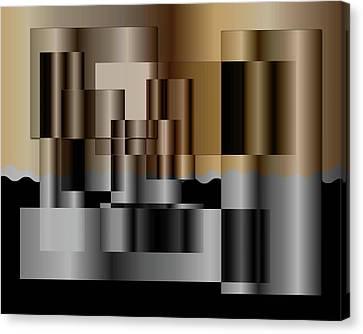Canvas Print featuring the digital art Pipes by Iris Gelbart