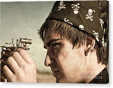 Pirate And Compass Canvas Print by Jorgo Photography - Wall Art Gallery