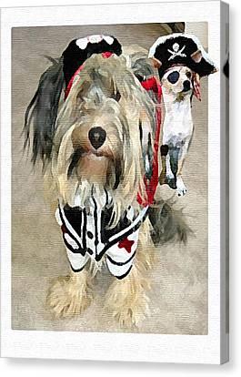 Pirate Dogs Canvas Print by Jane Schnetlage