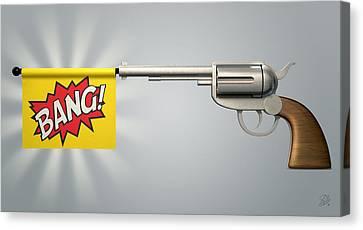Prime Canvas Print - Pistol Bang Flag by Allan Swart