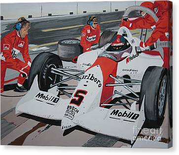 Pit Stop Canvas Print by Stacy C Bottoms