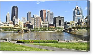 Pittsburgh Pa Canvas Print by Frozen in Time Fine Art Photography