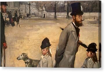Place De La Concorde Canvas Print by Edgar Degas