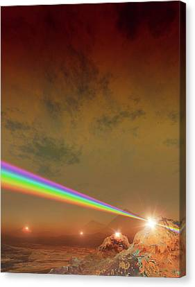 Planet Made Of Diamond Canvas Print by Mark Garlick