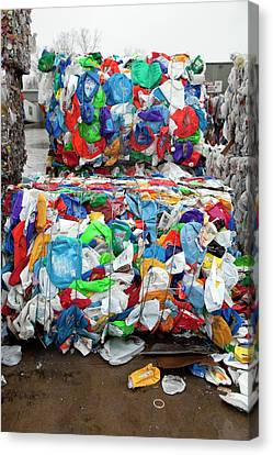 Plastic For Recycling Canvas Print by Jim West