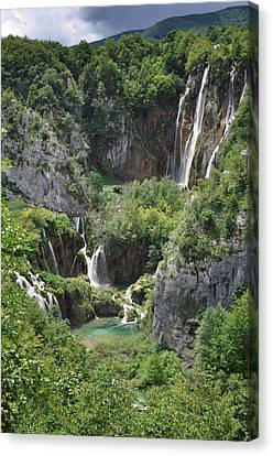 Canvas Print featuring the photograph Plitvice Lakes National Park by Laura Melis