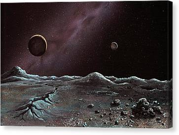 Pluto And Charon From Styx Canvas Print