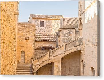 Poblet Monastery Near Barcelona In Catalonia Spain Canvas Print by Marek Poplawski