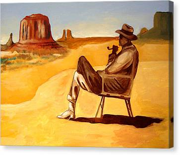 Poet In The Desert Canvas Print by Joseph Malham