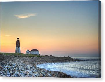 Point Judith Lighthouse Canvas Print by Juli Scalzi
