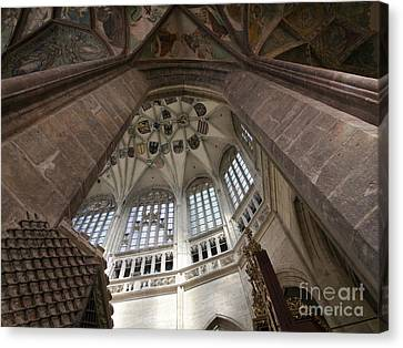 pointed vault of Saint Barbara church Canvas Print by Michal Boubin